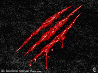 Swirly Claw Marks halloween design dark illustration abstract illustration abstract art swirly design swirly illustration digital art abstract illustration dark art swirly vectorillustration vectorart vector halloween digitalillustration claw marks bloody art