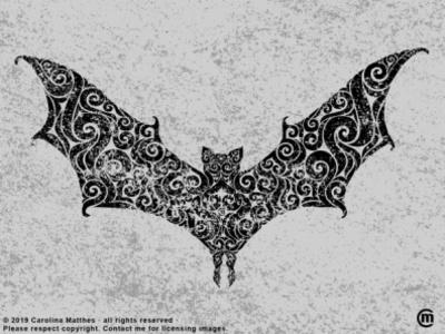 Swirly Bat digital art abstract illstration abstract design abstract art abstract swirly illustration swirly design swirly illustration dark art flying creature grunge texture vectorillustration vector vampire halloween bat animal