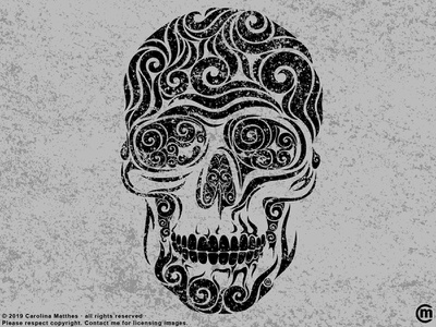 Swirly Skull halloween design abstract illustration abstract design abstract art abstract swirly illustration swirly art swirly digital illustration grunge texture vector illustration dark art vector skull skeleton halloween illustration digital bones