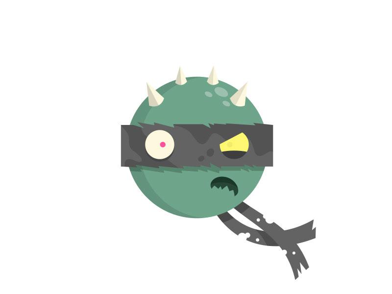 Slash icon turtle power foot clan fan art vector mike katits illustration slash teenage mutant ninja turtles tmnt