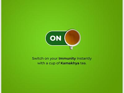 Tea Advertisement minimal web branding illustration design