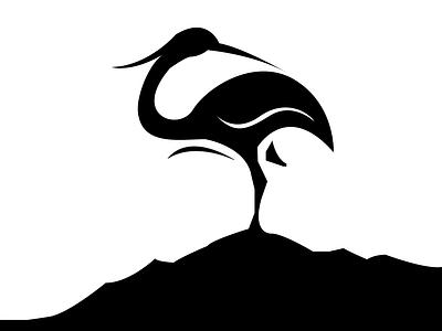 Heron negative space logo abstract design modern design modern logo heron negative space logo heron negative space logo graphic illustrator design creative brand identity logo design logo abstract graphic design branding