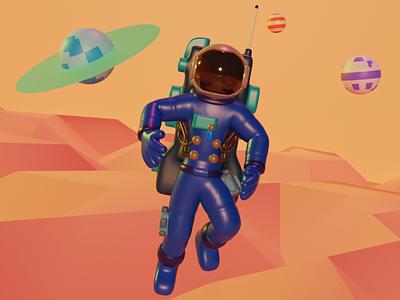 3d illustration   astronaut mobile ui uiux app ui design 3d 3d art graphic illustraion octane 3dmax planet astronaut ux graphic design render 3dmodel app blender web