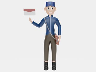 3d illustration postman website work mail postman app ui 3d design octane 3dsmax ux uiux ui illustration 3d art 3d graphic design render 3d modeling app blender web