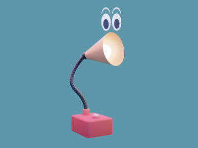 3D Illustration Lamp logo ux render lamp blender app design branding illustration 3d art 3d app ui uiux ui