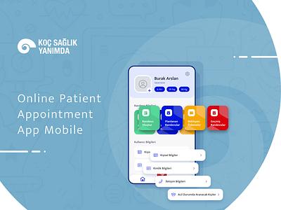 Koç Sağlık Yanımda - Online Patient Appointment App Mobile patient online mobile doctors app android ios creative flat ui ux