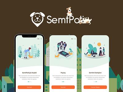 Semtpati Mobile App Design creative petstore petshop pets mobile android ios app graphic design flat ui ux