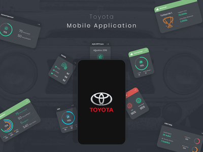 Toyota Mobile App Design chart car toyota art mobile android app ios design flat creative ui ux