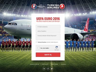 TURKISH AIRLINES - UEFA EURO 2016 creative web design ux uı football 2016 euro uefa france airlines turkish
