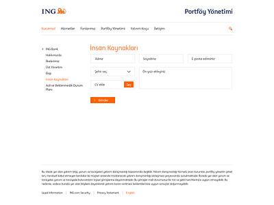 ING Bank Portföy Yönetimi graphic flat creative ux ui design web ing bank finance banking