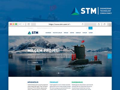 STM - Mühendislik, Teknoloji, Danışmanlık creative web design flat ux ui consultancy technology engineering stm