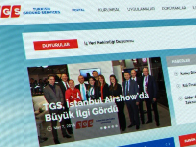 TGS - Turkish Ground Services ReDesign flat graphic web design tgs ux ui redesign services ground turkish