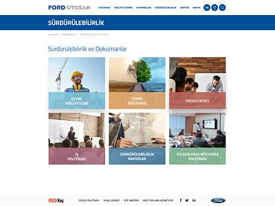 Ford Otosan Web Design production creative web design ux ui flat presentation ar-ge commercial car ford
