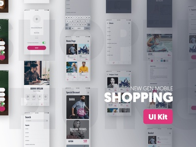 Shopping UI Kit art direction design ios creative app mobile shopping flat ux ui