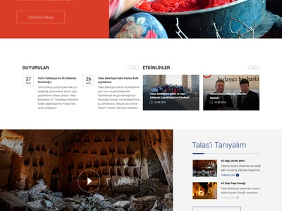 Talas Municipality Web Interface Design art direction city municipality new generation flat design ux ui