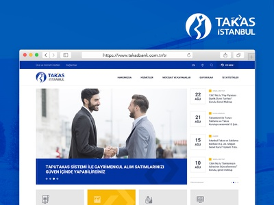 Takasbank Web Interface Design unit money foreign currency bank art direction flat design ux ui