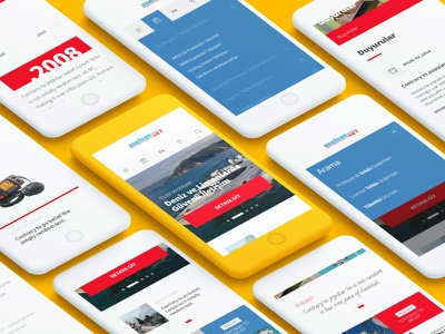 Aselsan Net Corporate Responsive Design responsive website radio security android ios creative design flat ui ux