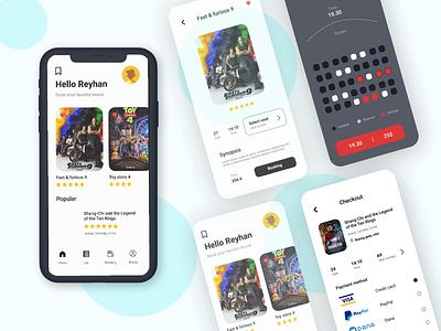 Cinema Ticket App illustration uidesign design app graphic design ux animation ui