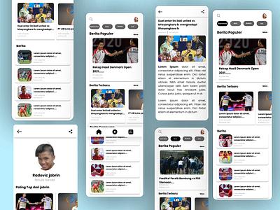Sport News App uiinspiration uiuxinspiration uidesign design app graphic design ux animation ui