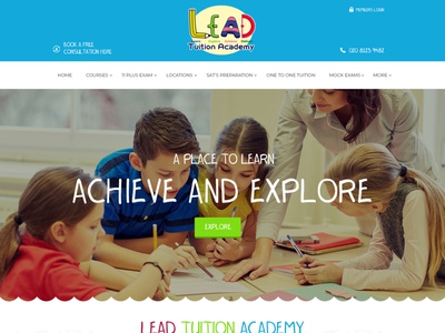 Tuition Academy art design website web graphic design