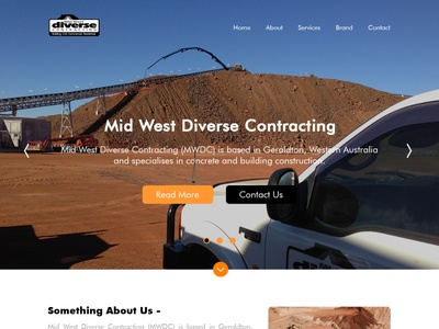 Midwest Contracting Home construction business website web graphic design design