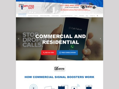 Commercial and Residential business web website graphic design design