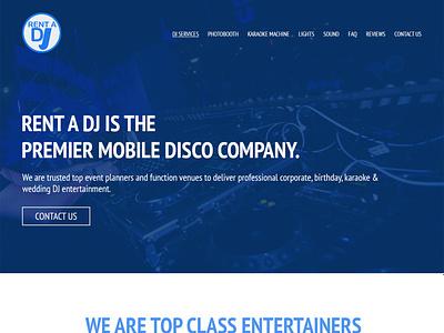 Rental DJ Home logo web website graphic design design