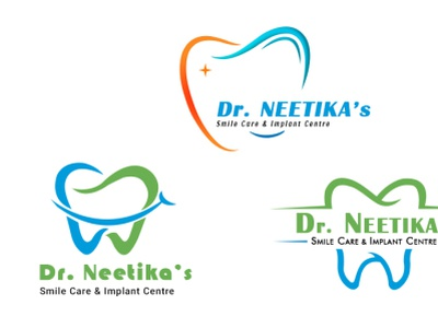 Dentist logo construction animation brand identity business vector brand logo graphic design web design