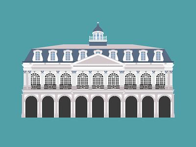 The Cabildo illustration vector new orleans architecture building