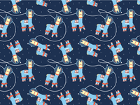 Space Llama Pattern