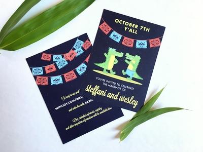 Gator Wedding Invitations