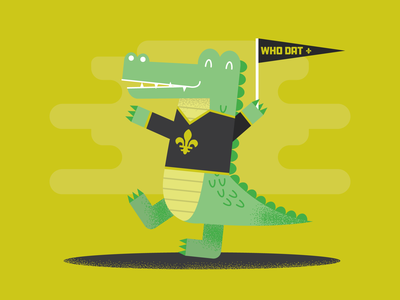 New Orleans Saints Alligator, Who Dat