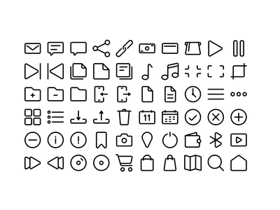 Simple Line Icons iconography website vector app icon ux ui icons