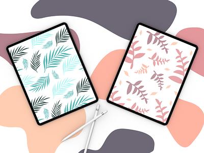Palm pattern design color print pattern illustration design vector