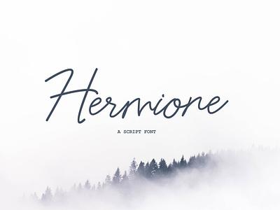 Hermione - Script Fonts typography lettering vector font design calligraphy fonts font