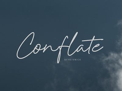 Conflate - Script Font handwritten script font typography typo font design font
