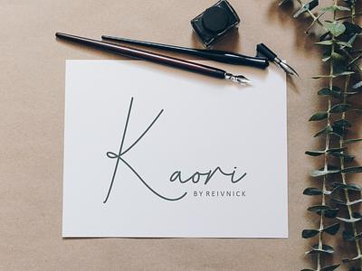 Kaori - Script Font handwritten typo font design font typography