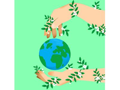 Earth Day graphicdesign creative digital painting poster digitalillustration vector design illustration