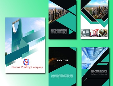 Nomus Project logo illustration design brochure design brochure branding animation