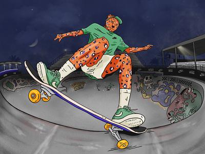 Leo skater nike sneakers art nike collaboration nike art graffiti graffiti illustration leopard picture leopard skateboarder skateboarder illustration skateboard art skateboard skateboard skate park illustration skater skater leopard leopard art leopard illustration leopard illustration nike nike