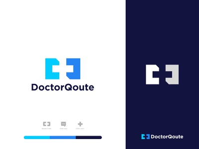DoctorQoute - Logo Design medical mark wellness best business health qoute chat clinic doctor illustration design icon logo designs logo designer designer portfolio concept branding brand identity