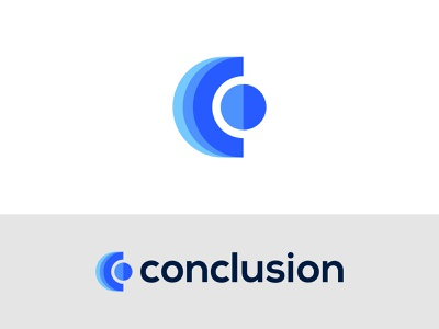 Conclusion - Logo Design Concept technology digital best mark simple colorful modern clean conclusion c logo lettermark alphabet icon logo designer logo designs designer portfolio concept branding brand identity