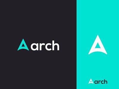 arch - Logo Design Concept negativespace monogram alphabet arrow company archer arch a letter modern app logomark icon logo designer logo designs designer portfolio brand identity branding concept