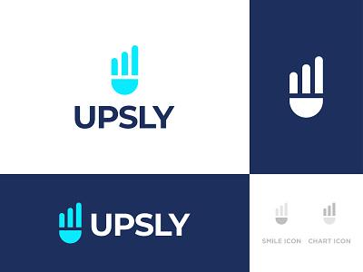 UPSLY - Logo Design Concept faruk omar graph upsly up chart grow smile u alphabet logomark app icon logo designer logo designs concept designer portfolio branding brand identity