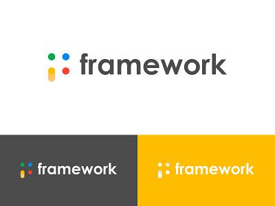 framework - Logo Design Concept creative human frame work google minimalist f letter alphabet modern logomark app icon logo designer logo designs concept designer portfolio branding brand identity