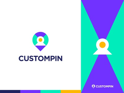 CUSTOMPIN - Logo Design Concept app unique negativespace simple creative cletter letterlogo location modern human customer custompin design logo designer logo designs concept designer portfolio branding brand identity
