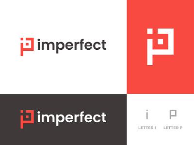 imperfect - Logo Design Concept imperfect best graphic design ip app unique creative minimalist modern p letter i letter letter logo design logo designer logo designs concept designer portfolio branding brand identity