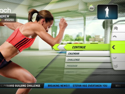 Addidas Micoach kinect sports ps3 move game ui ui artist