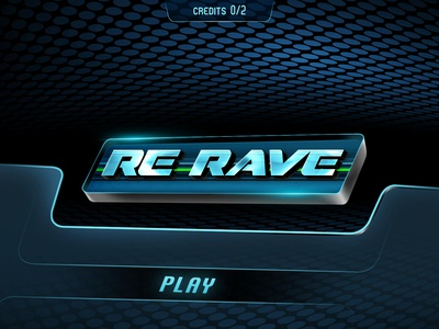 Sci-Fi Title sci-fi title game ui 3d play