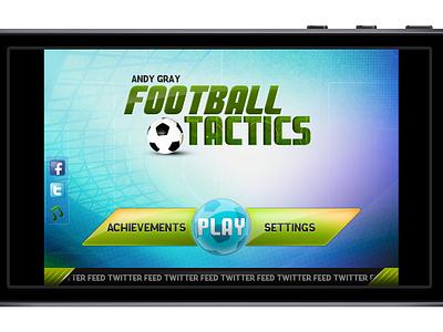 Fluid Football sports football game ui ios